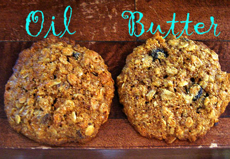made 2 batches of these cookies. One with butter, and the other with ...