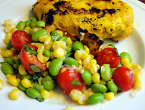 Toasted Corn, Cherry Tomato and Edamame Salad   Hottie ...
