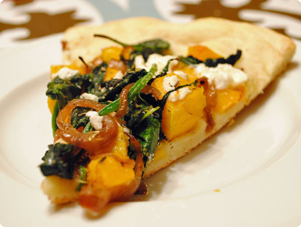 Butternut Squash, Spinach And Goat Cheese Pizza Recipe — Dishmaps