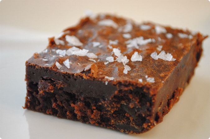 Dark Chocolate Brownies with Candied Ginger and Sea Salt | Hottie ...
