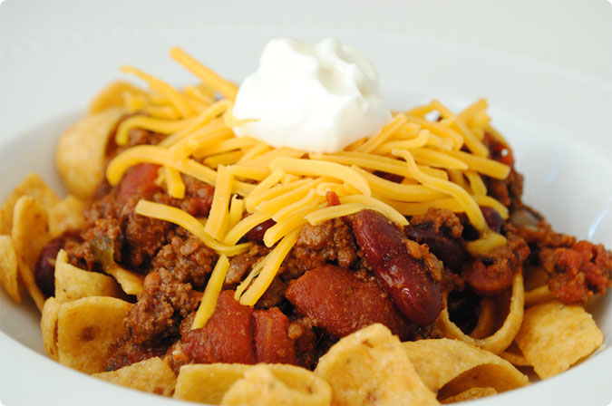 Beef, Bean and Beer Chili for Frito Pie | Hottie Biscotti