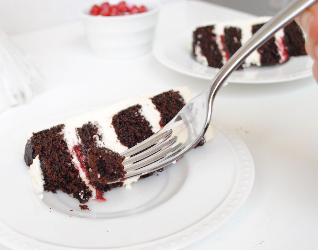Chocolate Layer Cake for Two: Devil's Food with Creamy Vanilla ...