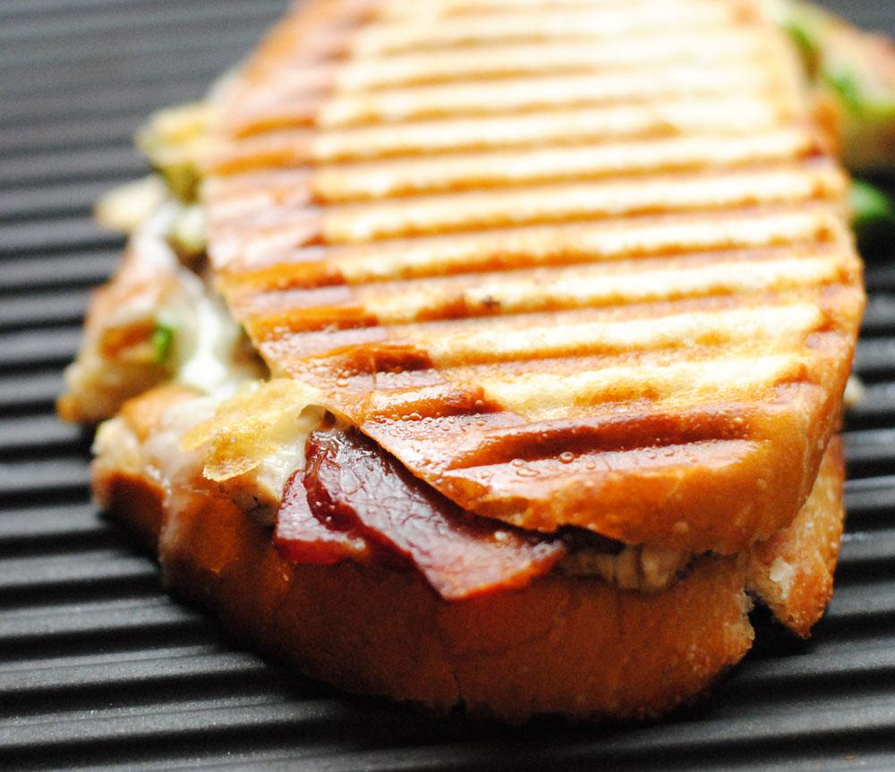 Chicken, Bacon, Avocado & Swiss Panini | Hottie Biscotti