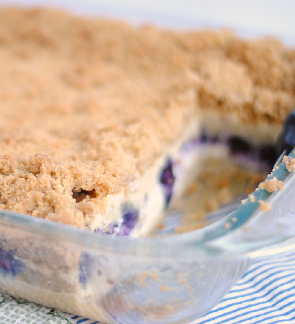 Blueberry & Cream Cheese Coffee Crumb Cake | Hottie Biscotti