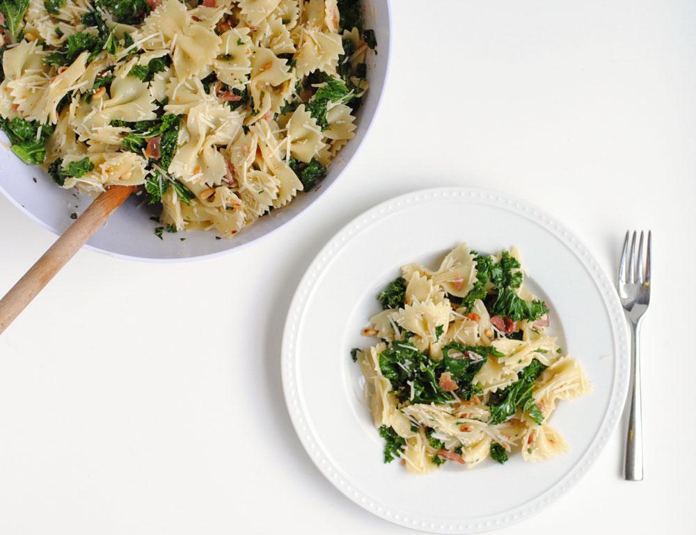 Kale, Bacon and Parmesan Pasta Salad | Hottie Biscotti