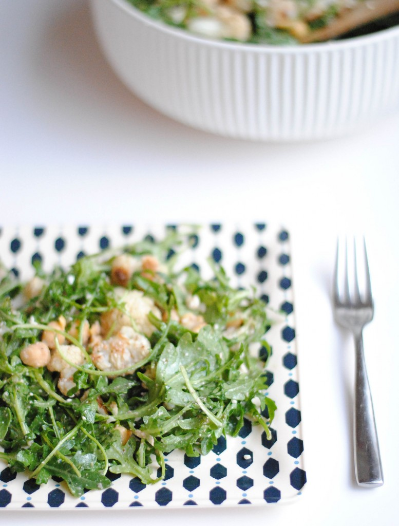 Cauliflower & Chickpea Salad with Feta, Pine Nuts and Arugula | Hottie ...